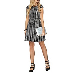Dorothy Perkins - Billie and blossom black jaquard dress
