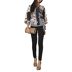 Dorothy Perkins - Black billie and blossom patchwork kimono top