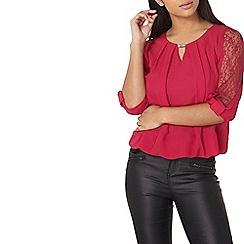 Dorothy Perkins - Billie Black Label pink lace insert blouse