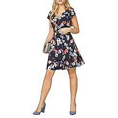 Dorothy Perkins - Blue billie and blossom floral fit and flare dress