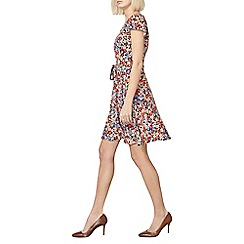 Dorothy Perkins - Multi red billie and blossom floral fit and flare dress