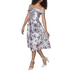 Dorothy Perkins - Luxe grey bardot prom dress