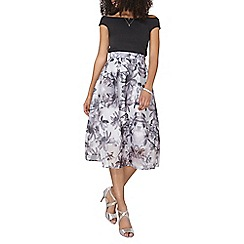 Dorothy Perkins - Luxe grey floral organza skirt