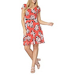 Dorothy Perkins - Billie and blossom red mono floral dress