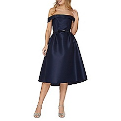 Dorothy Perkins - Luxe navy bardot dress