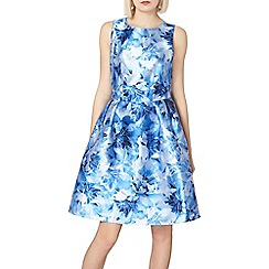 Dorothy Perkins - Luxe blue blurred floral prom dress