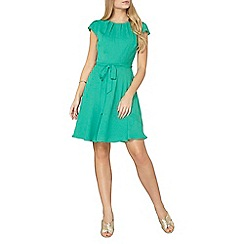 Dorothy Perkins - Billie and blossom green pleated neck dress