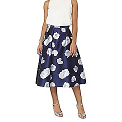 Dorothy Perkins - Luxe navy floral skirt