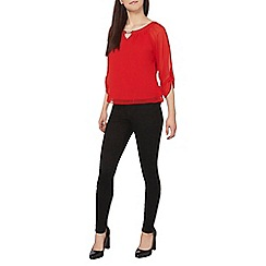 Dorothy Perkins - Petite billie and blossom red trim bubble top