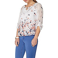 Dorothy Perkins - Billie and blossom petites floral trim blouse