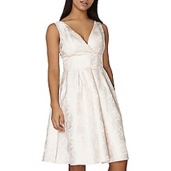 Dorothy Perkins - Luxe blush wrap prom dress