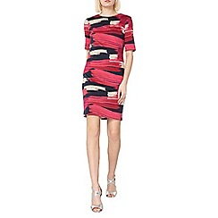 Dorothy Perkins - Multicoloured lily and franc brush stroke shift dress