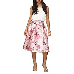 Dorothy Perkins - Luxe pink blurred floral skirt