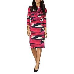 Dorothy Perkins - Lily and Franc pink abstract shift dress