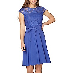 Dorothy Perkins - Billie and Blossom petite cobalt lace dress