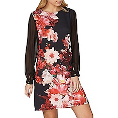 Dorothy Perkins - Billie and Blossom red floral shift dress