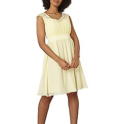 Dorothy Perkins - Showcase lemon 'jasmine' dress