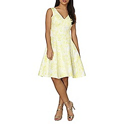 Dorothy Perkins - Luxe yellow jacquard prom dress