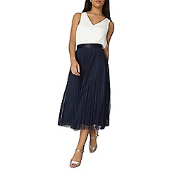 Dorothy Perkins - Luxe navy tulle midi skirt