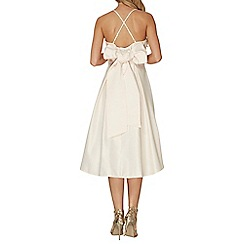 Dorothy Perkins - Luxe champagne cami bow dress