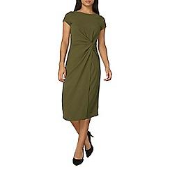 Dorothy Perkins - Lily and franc khaki manipulated dress