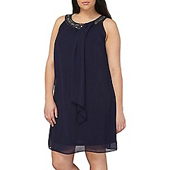 Dorothy Perkins - Billie and Blossom curve navy embellished trapeze dress