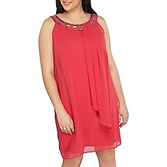 Dorothy Perkins - Billie and Blossom curve pink trapeze dress