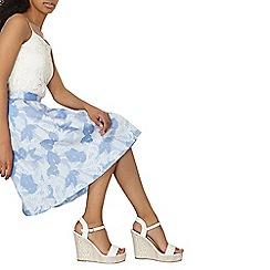 Dorothy Perkins - Luxe blue jacquard mini skirt