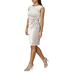Dorothy Perkins - Billie & blossom grey velour bodycon dress