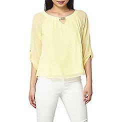 Dorothy Perkins - Billie and Blossom petite lemon trim blouse
