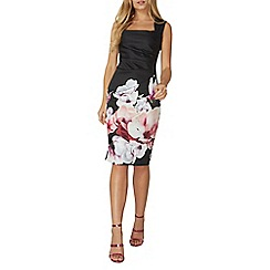 Dorothy Perkins - **Scarlett B black floral border 'Lydia' dress