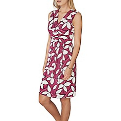 Dorothy Perkins - **Lily & Franc magenta abstract leaf print dress