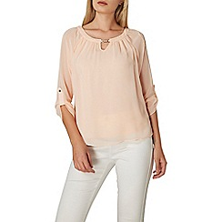 Dorothy Perkins - **Billie & blossom blush trim blouse