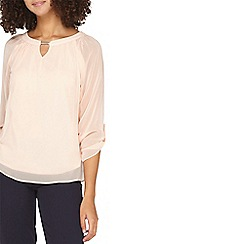 Dorothy Perkins - **Billie & Blossom tall blush trim blouse