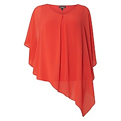 Dorothy Perkins - **billie & blossom Curve coral overlay top