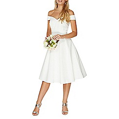 Dorothy Perkins - **white bridal 'tabitha' skater dress