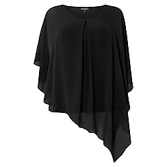 Dorothy Perkins - **billie & blossom curve black overlay top