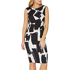 Dorothy Perkins - **Lily & Franc paint stroke bodycon dress