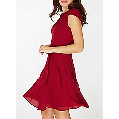 Dorothy Perkins - **billie & blossom wine belted skater dress