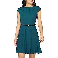 Dorothy Perkins - **billie & blossom petite green belted skater dress