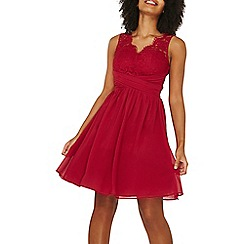 Dorothy Perkins - **showcase red berry 'belle' prom dress