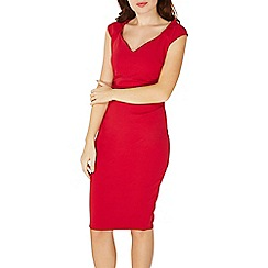 Dorothy Perkins - **scarlet b red winter 'Rebecca' bodycon dress