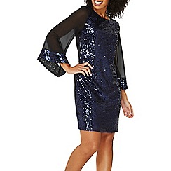 Dorothy Perkins - **billie & blossom navy sequin kimono shift dress