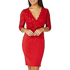 Dorothy Perkins - Scarlett B red Jessica bodycon dress