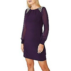 Dorothy Perkins - ****billie & blossom purple silver trim shift dress