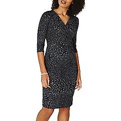Dorothy Perkins - **billie & blossom black animal print wrap bodycon dress
