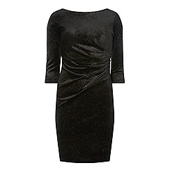 Dorothy Perkins - **Billie & Blossom petite black velour shift dress