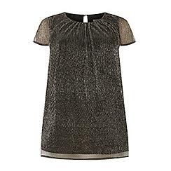 Dorothy Perkins - **Billie & Blossom dp curve silver plisse shell top