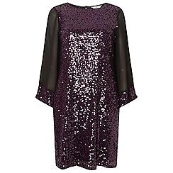 Dorothy Perkins - **billie & blossom tall blackcurrant sequin shift dress