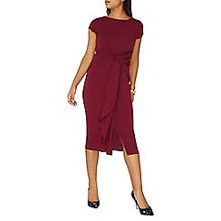 Dorothy Perkins - **luxe plum frill manipulated wrap dress